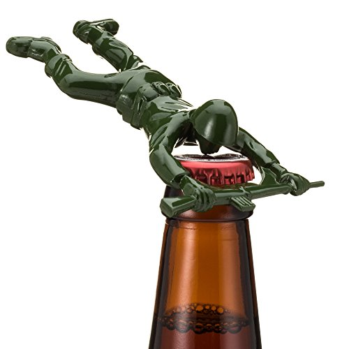 Sgt. Pryer Green Army Man Bottle Opener, Fun Unique Gifts for Men – Cool Beer Gifts Guy Birthday Ideas