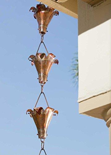 - Monarch Pure Copper Royale Rain Chain, 8-1/2-Feet Length