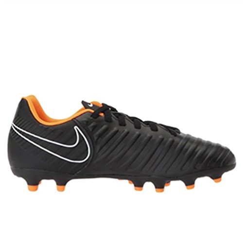 Nike Jr. Legend 7 Club (fg) Crampon De Soccer Au Sol Ferme Noir / Total Orange / Blanc