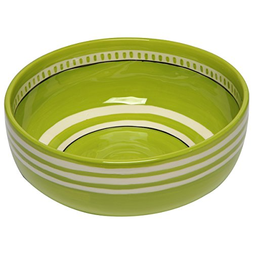 Thompson & Elm M. Bagwell Colors Collection Ceramic Serving Bowl, 9.25-Inches in Diameter, Green (Tray Pier Serving One)