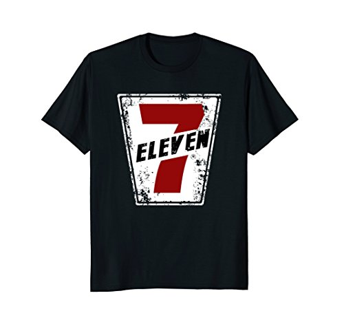 7 Eleven Retro Logo Distressed T Shirt
