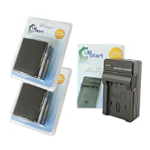 2x Pack - Canon BP-915 Battery + Charger - Replacement for Canon BP-970 Digital Camcorder Battery and Charger (7500mAh, 7.4V, Lithium-Ion)