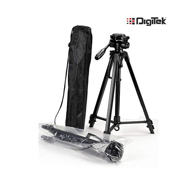 RetinaPix Digitek DTR 550LW Lightweight Tripod with Boya BYM1 Omnidirectional Lavalier Condenser Microphone