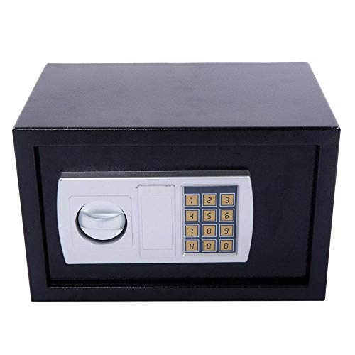 Security Safe Box, Electronic Digital Lock Keyboard Security, Sturdy Steel Fire Protection, Cash Jewelry Gun Safe,Home and Office, Fixed to The Wall, Floor, ()