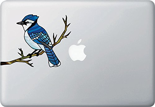 Bird - Blue Jay Stained Glass Style Vinyl Decals for Laptops | Gaming Consoles | Home Decor 2016 Yadda-Yadda Design Co. (6