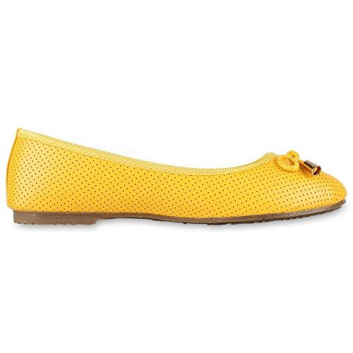 Jennika Klassische Gelb Elegante Schleifen Slippers Damen napoli Metallic Flache Glitzer Abiball Lack Ballerinas Abendschuhe Schuhe fashion Flats 5RawZ