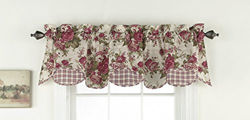 Waverly 14775060X016TSN Norfolk 60-Inch by 16-Inch Window Valance, Tea Stain ()