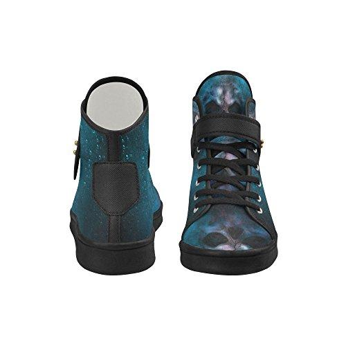 Interestprint Schedel Doek Schoenen Mode Schoenen Voor Vrouwen Schedel 4