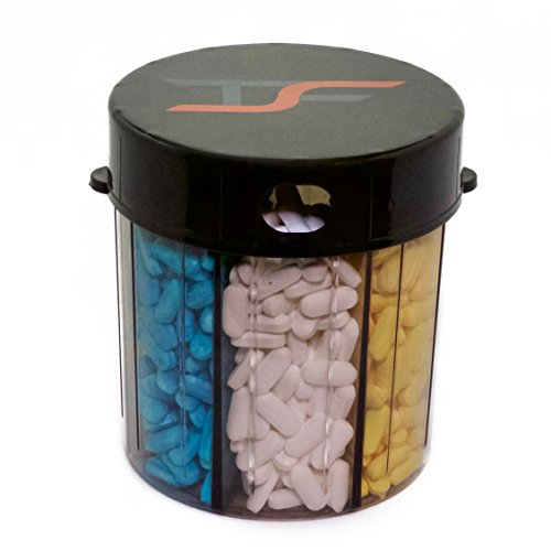 (JUMBO Extra Large 7 Compartment Day Pill Tablet Medicine Storage Holder Dispenser Organizer by TS FIT)