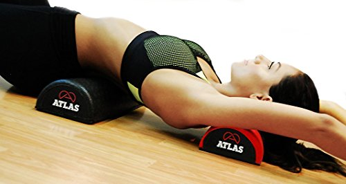 Alpha Half Foam Roller Textured Lumbar Support & Assist for Back Pain Relief, Neck Tension Support & Sacrum Tailbone Support