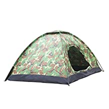 MANDCG® 3 Person Waterproof Dome Backpacking Tent For Camping, Hiking, Travel, Climbing - Easy Set Up - Army Camouflage Green
