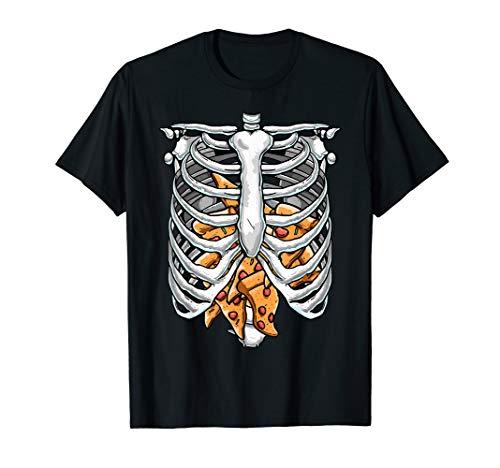 Funny Rib Cage Skeleton X-ray Pizza Halloween