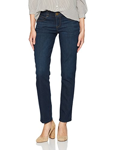 Democracy Women's Ab Solution Straight Leg Jean, Indigo, 14 (Solution Straight)