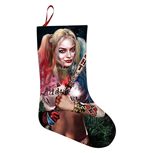 Fairy UMI Cool Ha-rley Qu-inn Christmas Stockings Gift Socks Novelty Hanging Stockings Holiday Xmas Party Decorations -