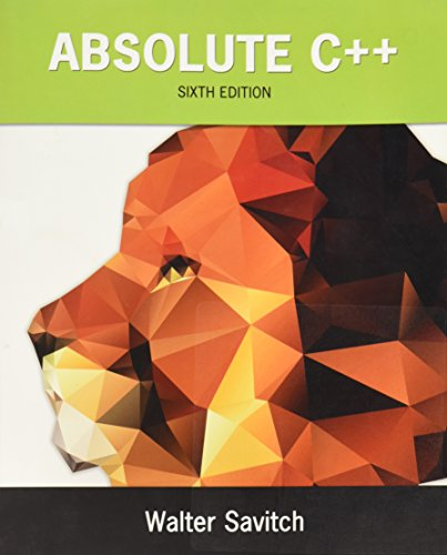 133970787 - Absolute C++ (6th Edition)