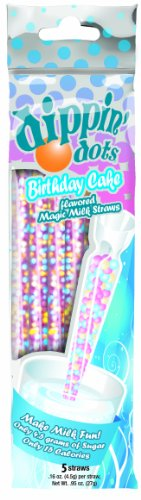 Flavored Drinking Straws - Magic Straws Dippin' Dots Flavored Straws (Birthday Cake)