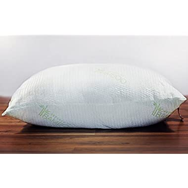 Bamboo Fiber Filled Pillow with Cover-Queen