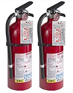 Kidde 21005779 Pro 210 Fire Extinguisher, ABC, 160CI, 4 lbs, 1 Pack (2 Pack)