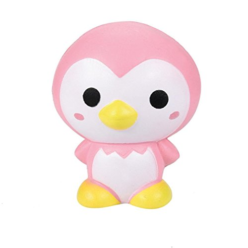 Cute Pink Penguin Cartoon Scented Squishies Charm Slow Rising Squeeze Toy ()