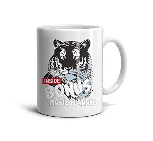 klkljn Ceramic Mug Floral Coffee Cup Tiger Inside Bonus Magic Flannel ()