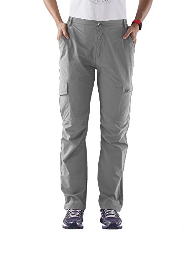 Nonwe Women's Quick Dry Hiking Pants Light Gray M/30.5