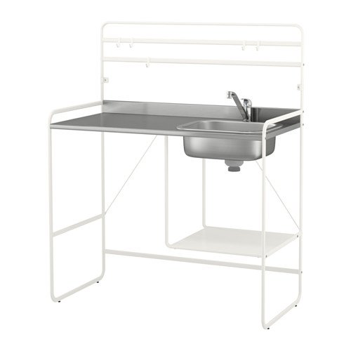 "Mini Kitchen Bathroom Storage Organization Laundry Room Space Saver Stainless Steel Sink Reversible Shelf Adjustable Feet 55"" X 44"" X 22"""