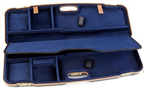 Negrini Cases 1622LX/5136 Compact Luxury Case for O/U and SXS/Barrels up to 33.7-Inch, Blue/Blue