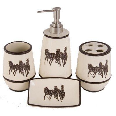 HiEnd Accents Western Three Horse Bathroom Set