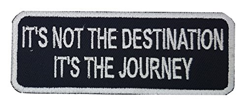 """NOT ALL WHO WANDER ARE LOST EMBROIDERED PATCH 8.5CM X 5CM 3 1//2/"""" X 2/"""""""