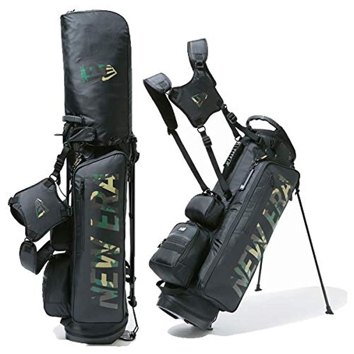 [해외] NEW ERA(NEWERA) NEWERA  골프 화이트 캐데이백 스탠드식 블랙 우드 랜드 카모 프린트 로고(베이직 파우치 부착)12325911 NEWERA,골프 화이트【L1】