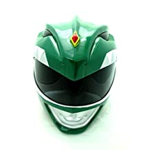 Wearable Green Mighty Morphin Power Rangers Cosplay Fiberglass Helmet Scale 1:1