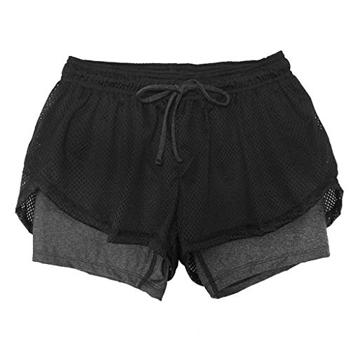 s Short Sports Anti Emptied Quick-Dry Outdoor Fitness Short Pants (XL, Gray) ()