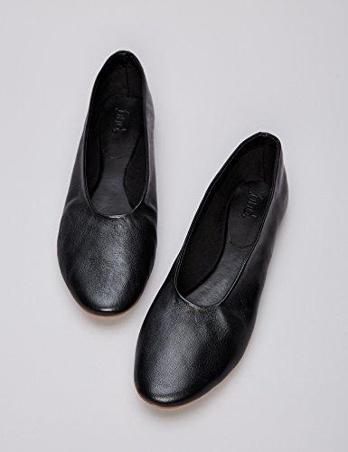 in Donna FIND Nero Black Pelle Ballerine A4w5xq6Y