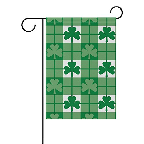 Naanle St. Patrick's Day Polyester Garden Flag 12 X 18 Inche