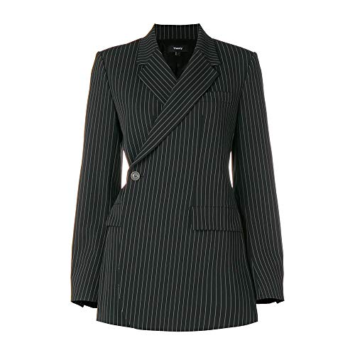 (Theory Womens Fitted Blazer Black Multi Size)