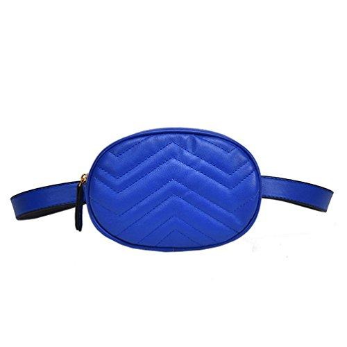 FimKaul Women Waist Bag Belt Pack Round Fanny Pack Stylish P