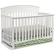 Graco Charleston Convertible Crib, White, Easily Converts to Toddler Bed, Day Bed or Full Bed, 3 Position Adjustable Height Mattress (Mattress Not Included)