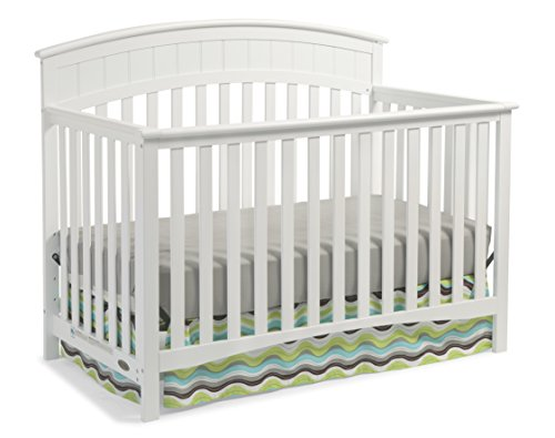 Graco Charleston Convertible Crib, White Easily Converts to Toddler Bed, Day Bed or Full Bed, 3 Position Adjustable Height Mattress
