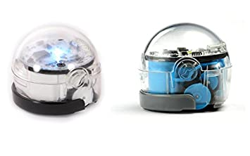 photograph regarding Ozobot Printable named Ozobot 2.0 Little bit, Twin Pack (Crystal White Neat Blue