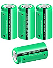 Rechargeable solar light battery 2/3AA size 1.2v 650mAh 4pcs