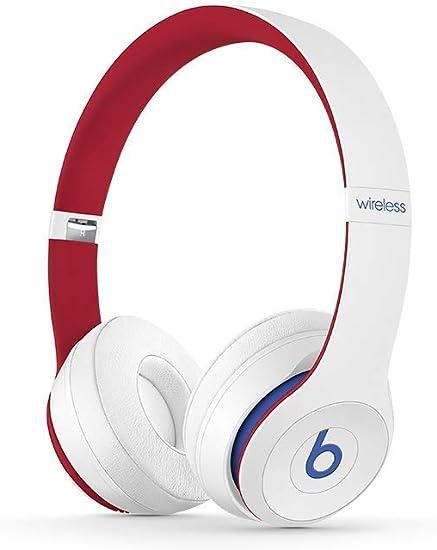 Beats Solo3 Wireless On-Ear Headphones – Beats Club Collection – Club White (Renewed)