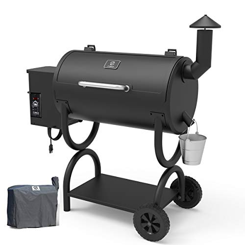 Z GRILLS Wood Pellet Grill Holiday Bonus Free Cover 8-in-1 BBQ Smoker with PID Controller for Outdoor Cooking 550SQIN Barbecue Area 10LB Hopper