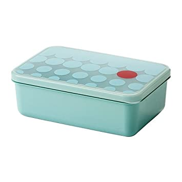 IKEA Kullar - Caja de almuerzo, azul claro - 23x15x8 cm: Amazon.es: Hogar