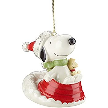 Amazoncom Lenox Christmas Morning Snoopy Ornament Home  Kitchen