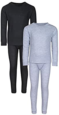 Snozu Boys 2-Pack Thermal Warm Underwear Top and Pant Set