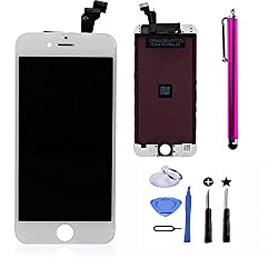 Lcd Touch Screen Digitizer Frame Assembly Full Set Lcd Touch Screen Replacement For Iphone 6(4.7inch) (White )