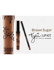 Kylie Jenner Lip Gloss Metal Matte Lipstick Brown Sugar