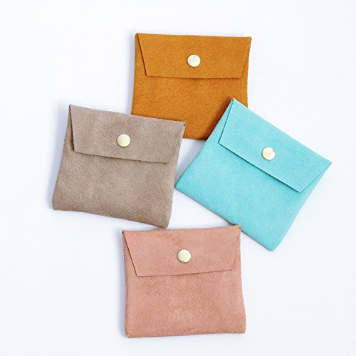 Small Suede Coin/Card Pouch