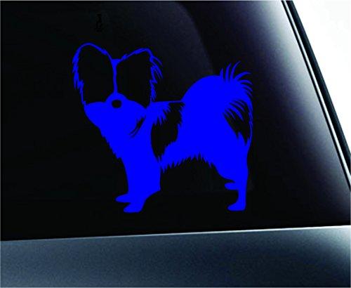 ExpressDecor Papillon Symbol Decal Paw Print Dog Puppy Pet Family Breed Love Car Truck Sticker Window (Blue)