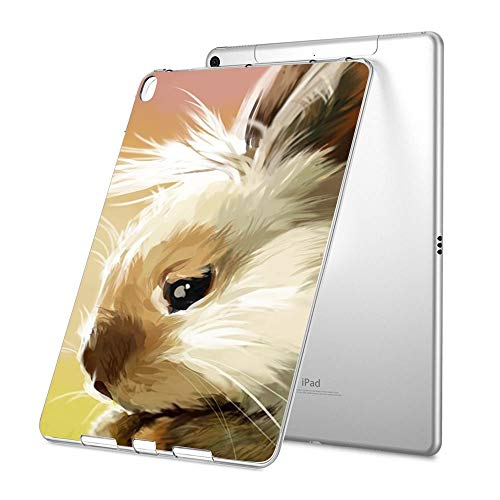 - GinHo Customized Protective Cover with Slim Soft Durable TPU Ultra-Clear Silicone UV Printing Case for Rabbit iPad Pro 9.7 inch 2018